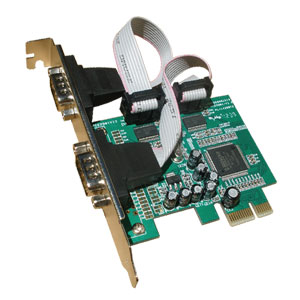 Serial PCI Express Card (PCIe), 2 ports RS232